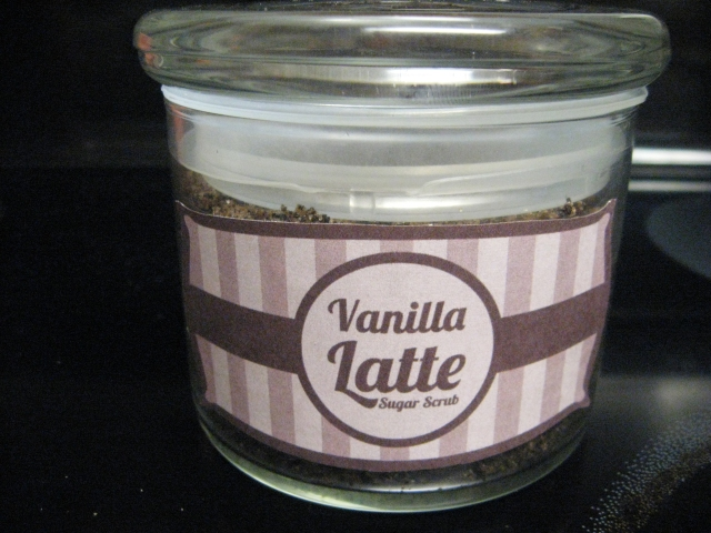 DIY Vanilla latte sugar scrub