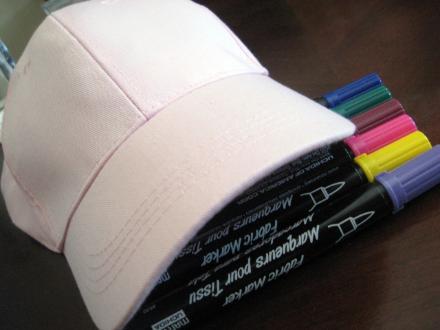 Materials to make a doodle cap