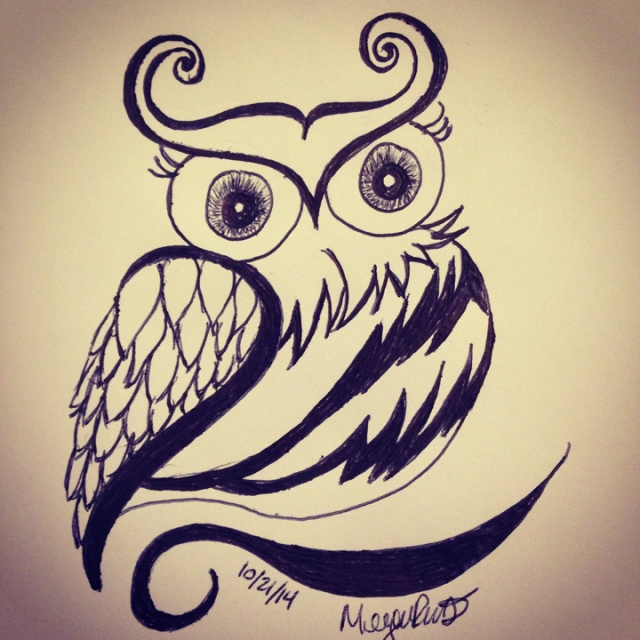 cute owl drawings - 720×720