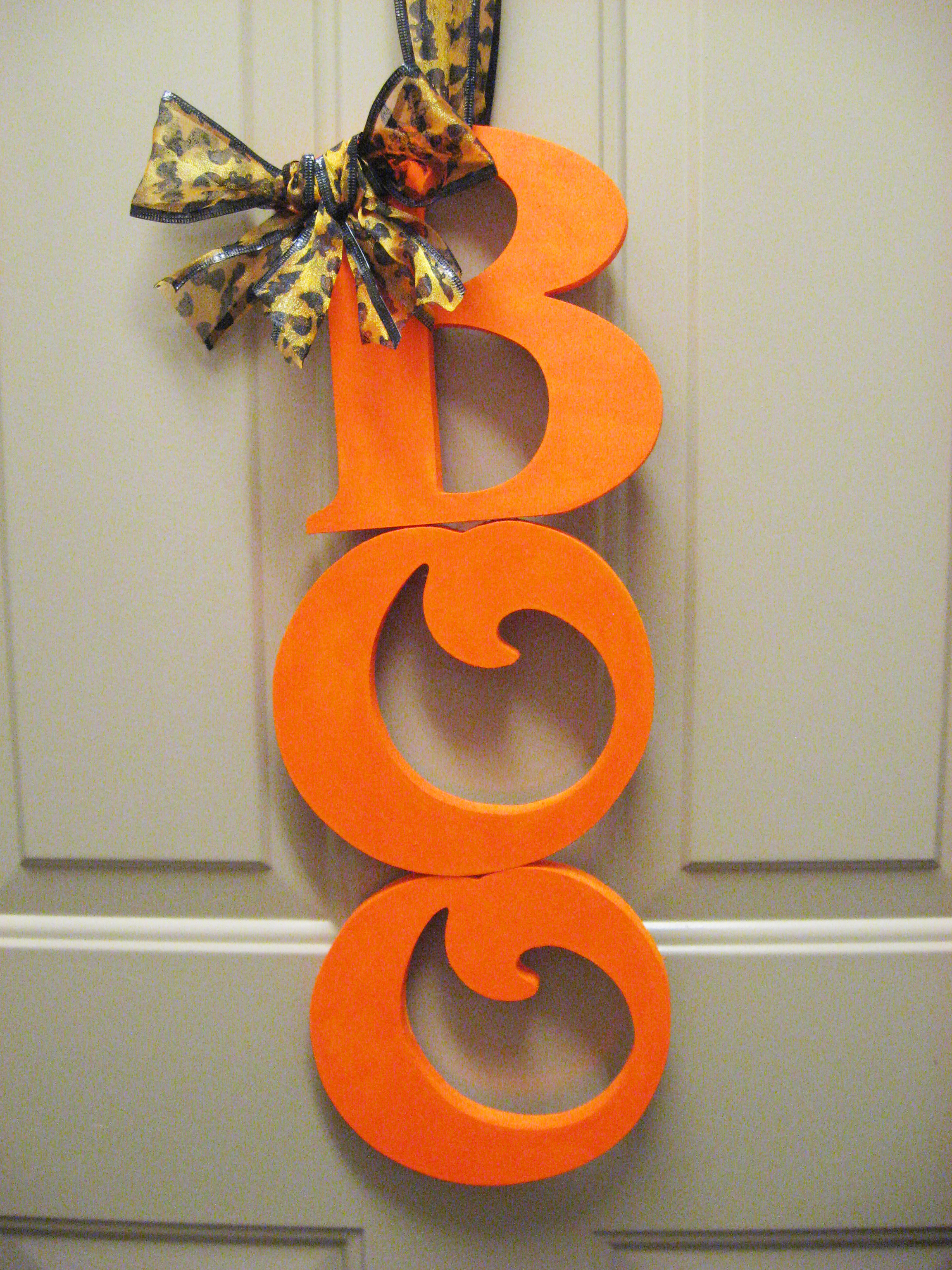 Cute halloween door decorations - Diy Boo Halloween Decor