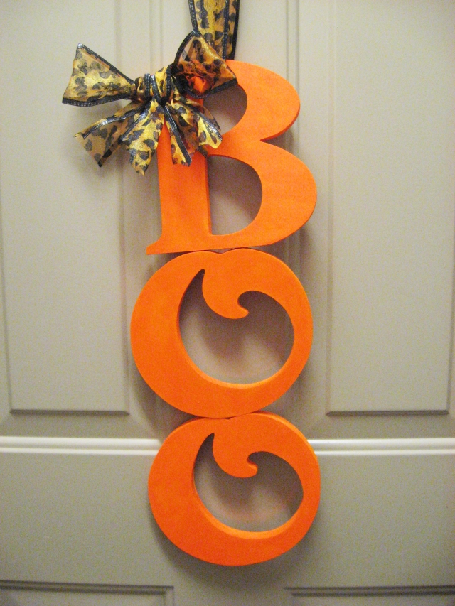 DIY boo halloween decor