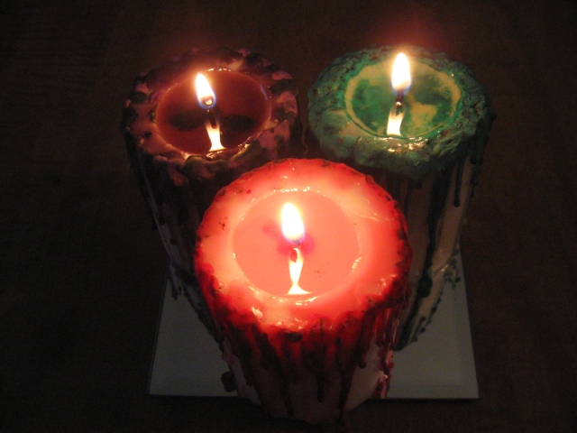 DIY Halloween candle crafts