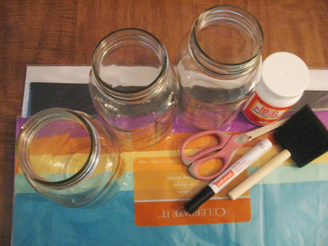 materials for a DIY mummy jar