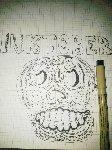 InkTober drawing by Katherine Tattersfield