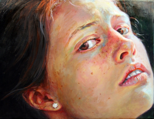 Elena Caravela: girl with freckles