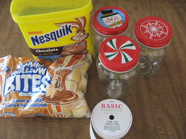 materials for hot chocolate gift
