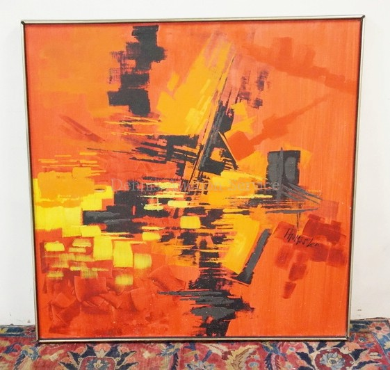 Lot 1410 Abstract Oil Painting