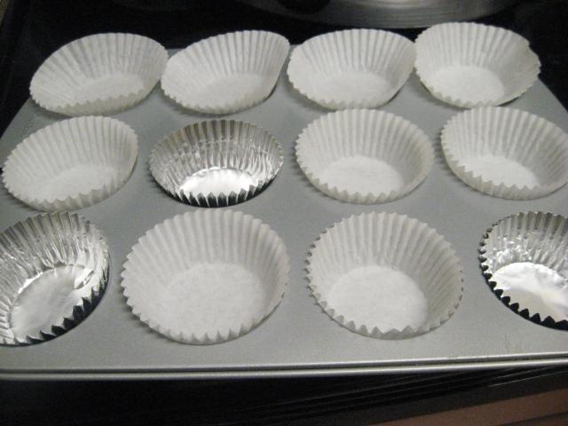 muffin tin prep