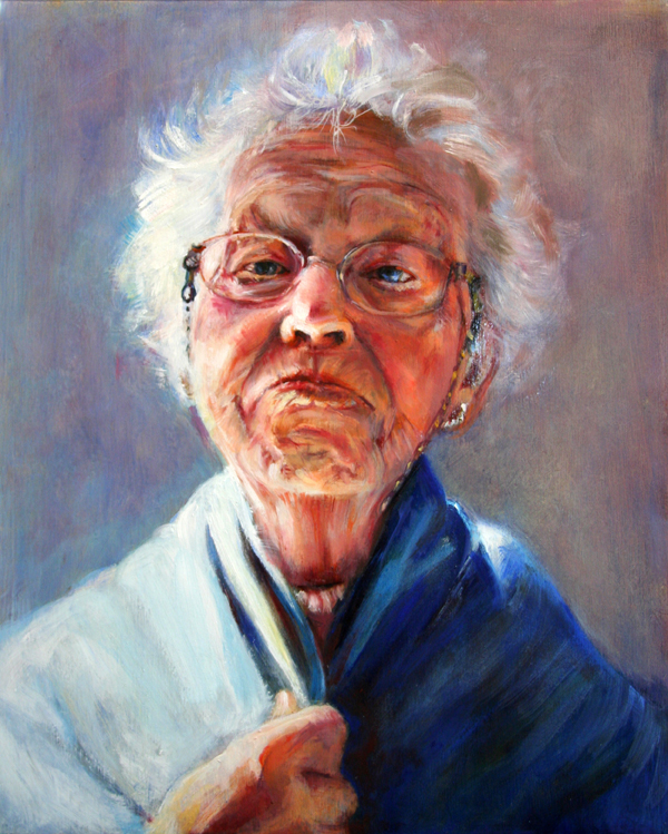Elena Caravela: old woman painting