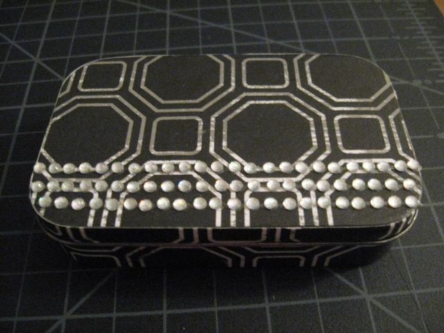 bedazzled tin box