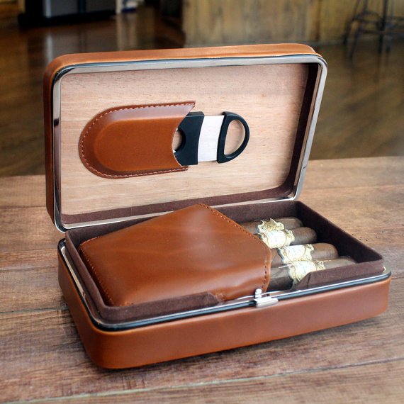 Travel cigar case and humidor