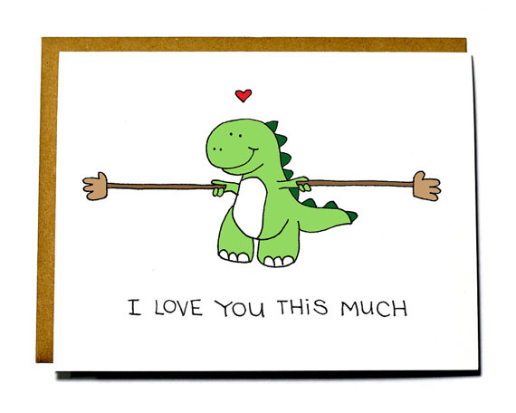 I love you this much Valentine's Day card
