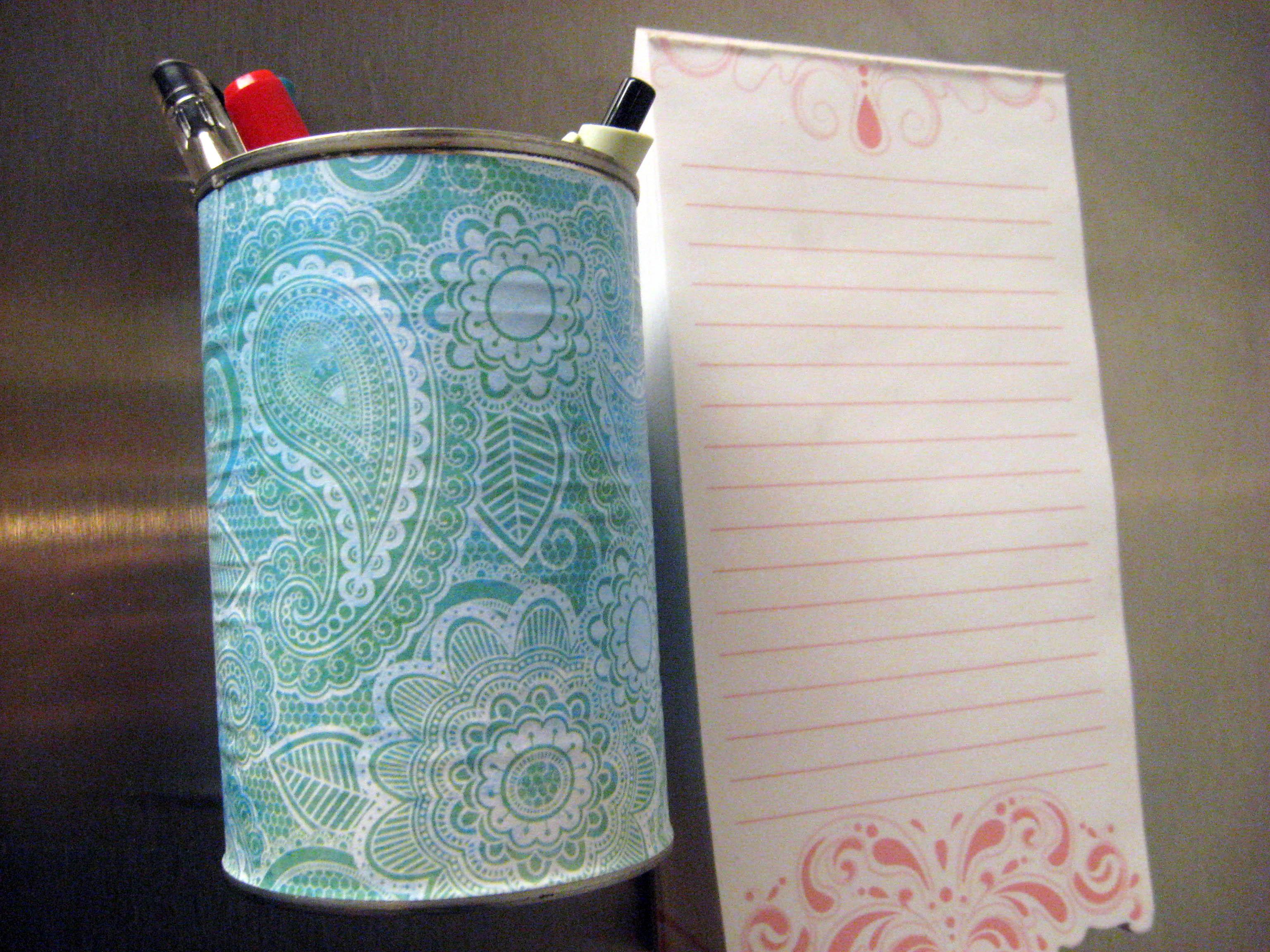 DIY Fridge Pen Holder From A Tin Can | Make Something Mondays!