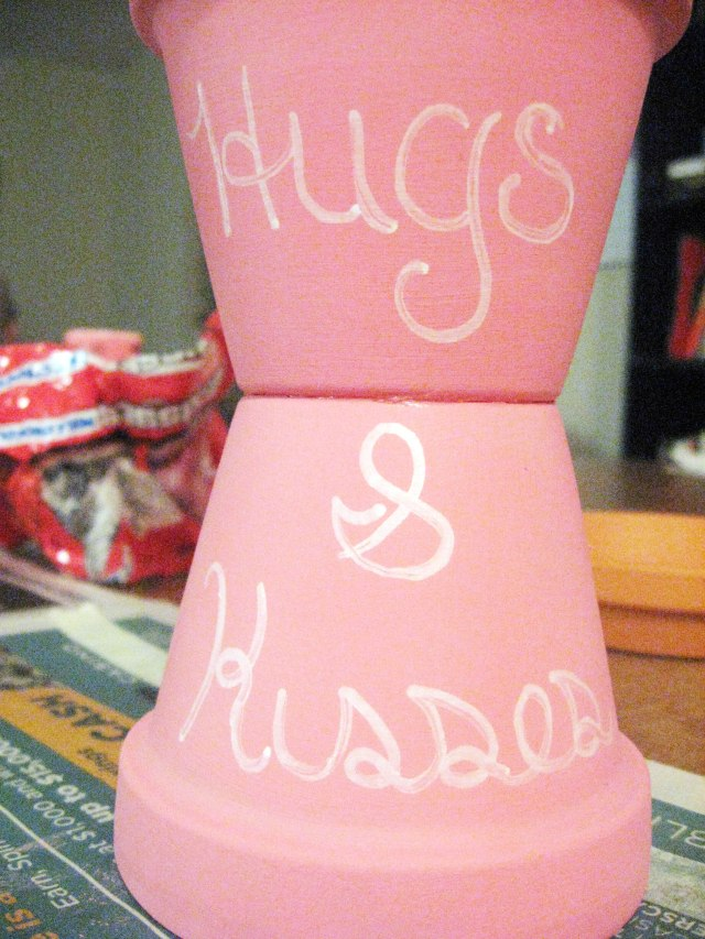 Hugs & Kisses detail on candy jar