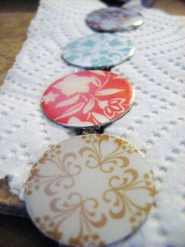 decorative glazed pins