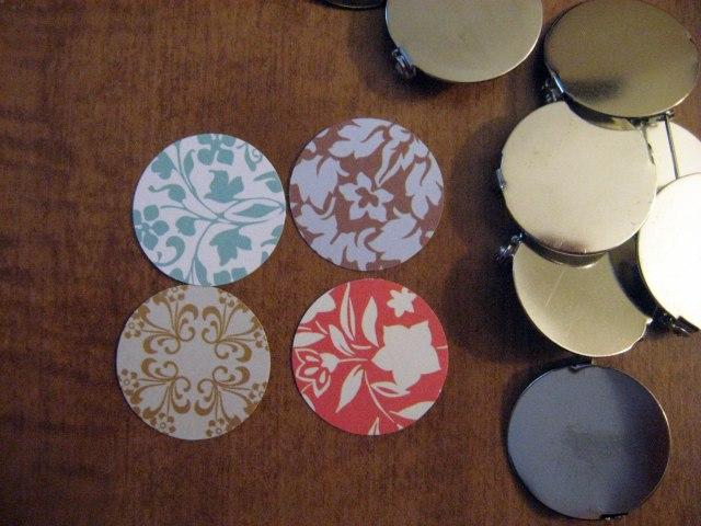 decorative scrapbook paper circles