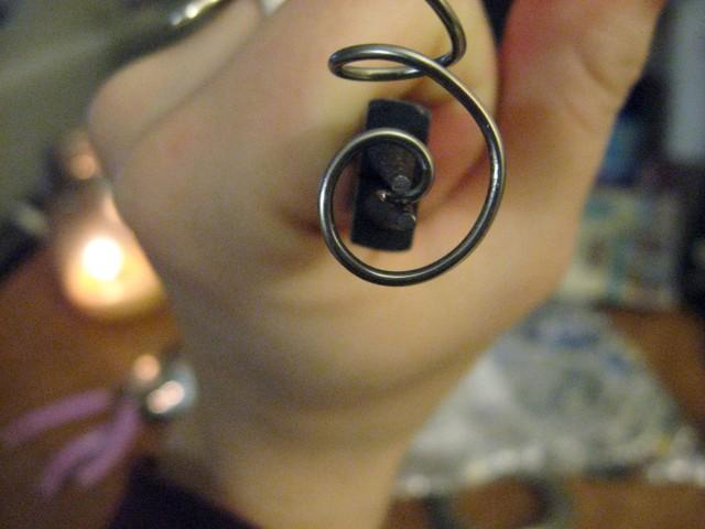 last earring swirl