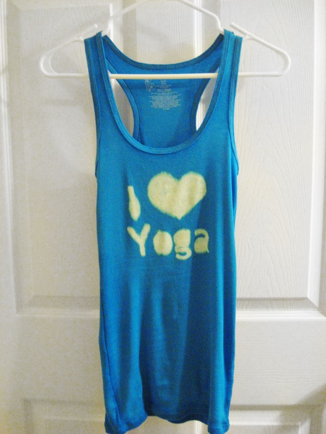 DIY I love yoga shirt