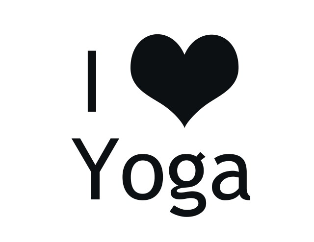 I love yoga shirt graphic