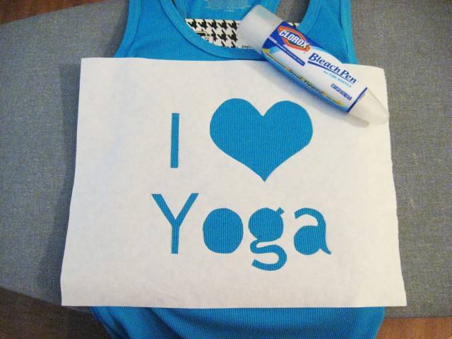 iron-on i love yoga design