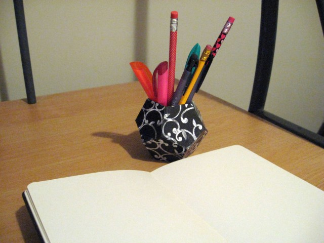 3D pen holder on my desk