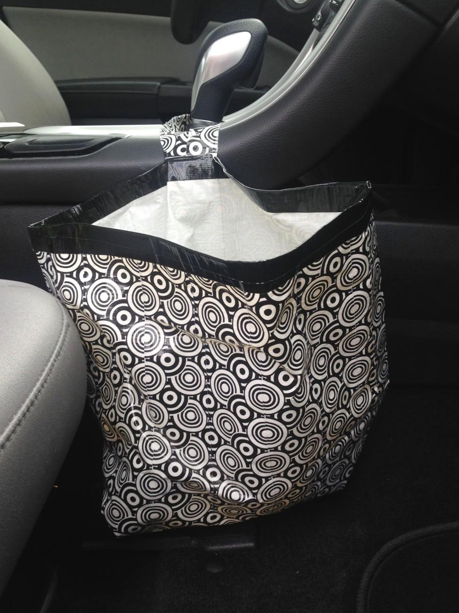 duct tape craft diy car garbage bag make something mondays. Black Bedroom Furniture Sets. Home Design Ideas