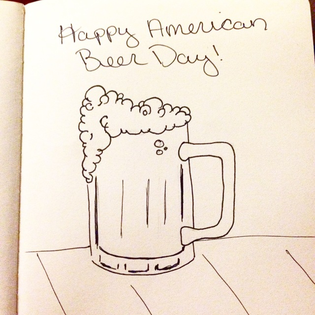 american beer day drawing inktober
