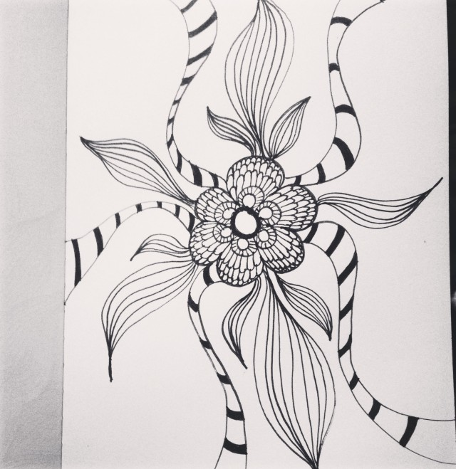 flower drawing inktober