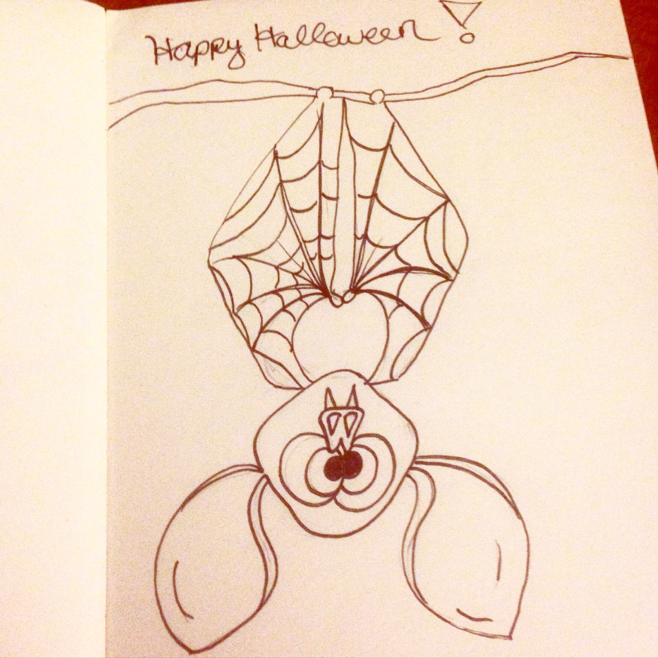 halloween bat inktober drawing