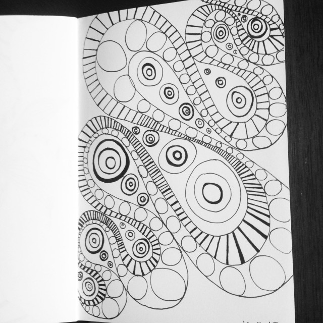 zentangle swirl drawing inktober