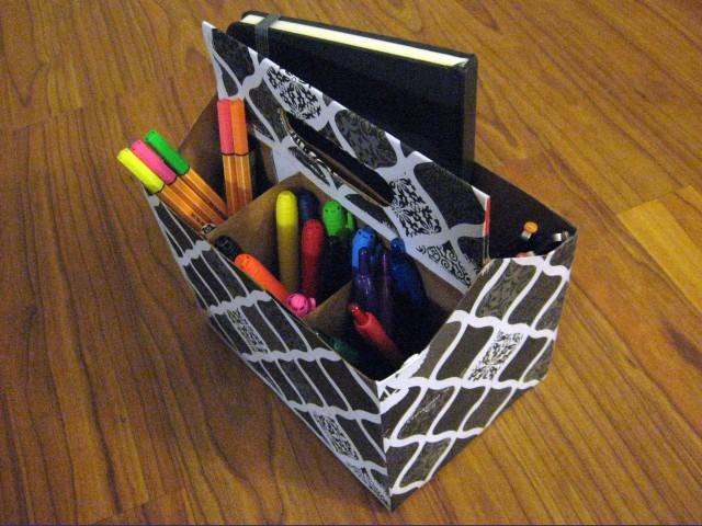 DIY upcycled artist travel case