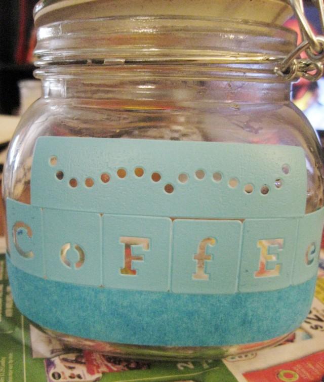 coffee stencil letters