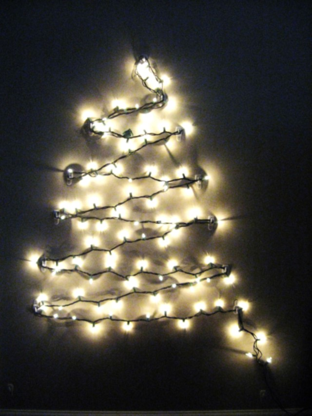 diy light up christmas tree