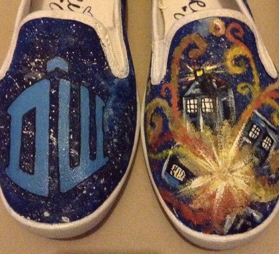 Doctor Who hand-painted shoes