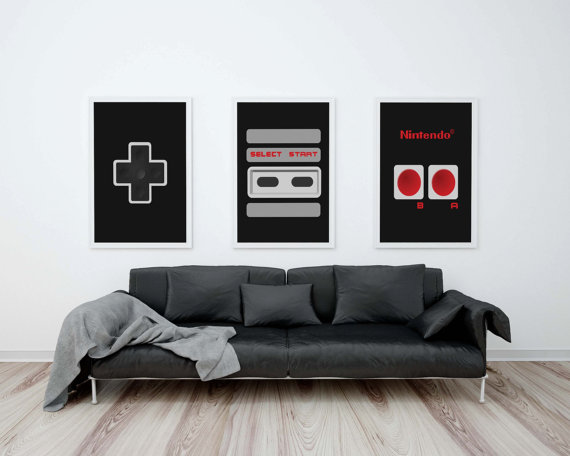 Nintendo wall art
