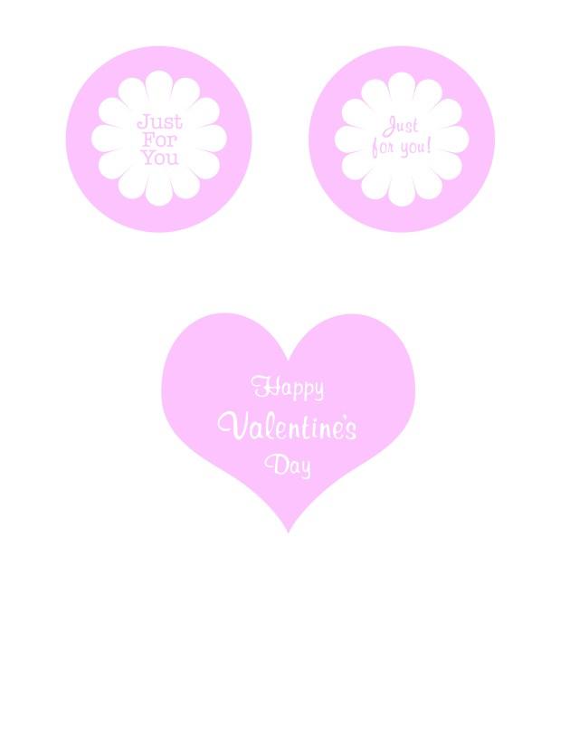 Valentine's Day Mason jar printables