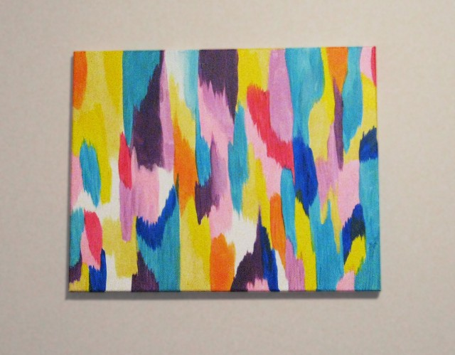 DIY spring-inspired abstract wall art
