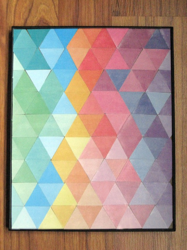 DIY Colorful Triangle Wall Art