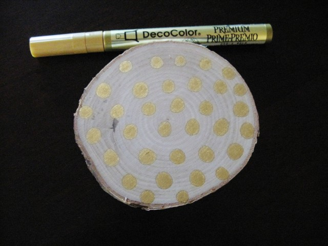 polka dot branch coasters