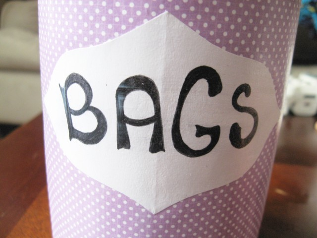 grocery bag label