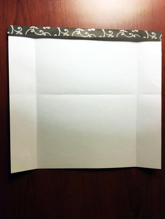folded scrabook paper
