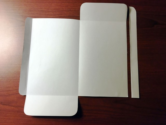 folds and cuts to make a paper envelope