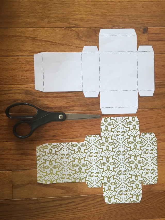 paper gift box template