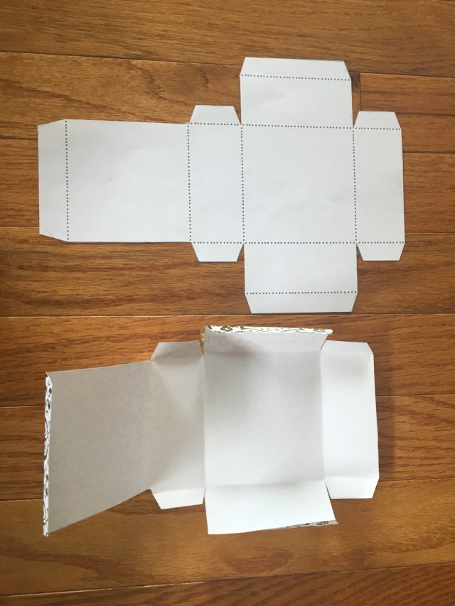folded scrapbook paper
