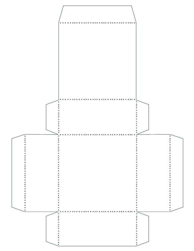 scrapbook paper gift box template