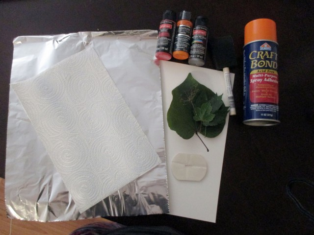 leaf relief painting materials