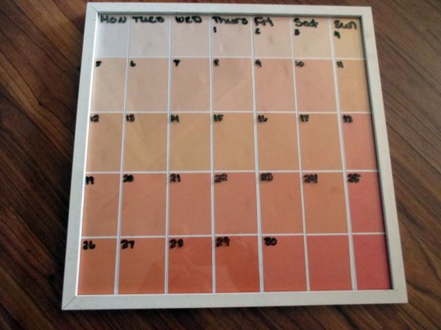 diy whiteboard calendar craft