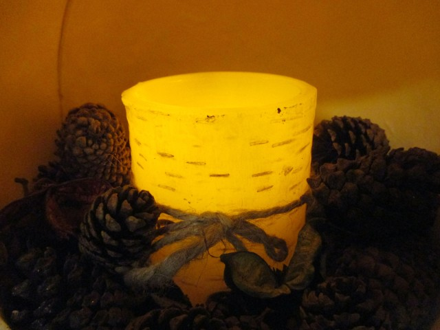 flameless candle decor