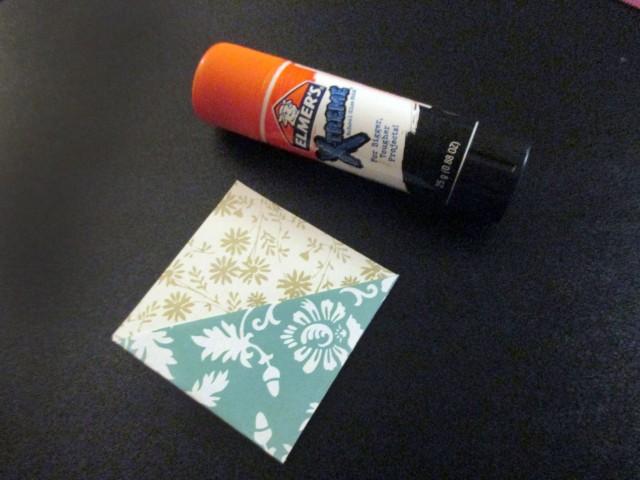 scrapbook paper origami bookmark