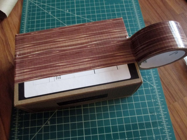 upcycling a storage box with Duck Tape